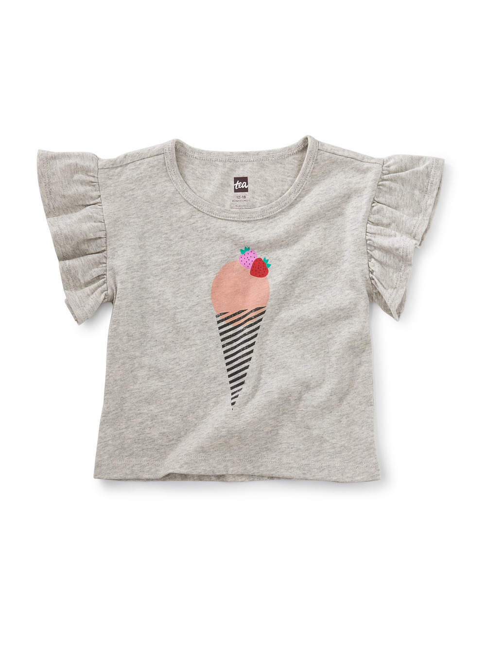 Ice Cream Flutter Sleeve Baby Tee