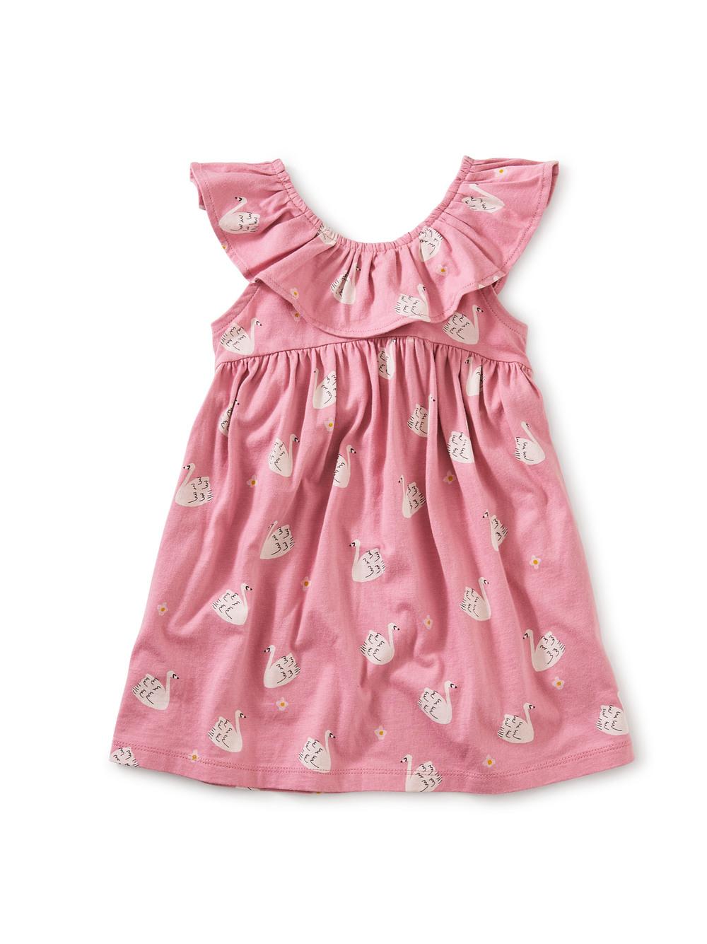 Ruffle Neck Baby Dress