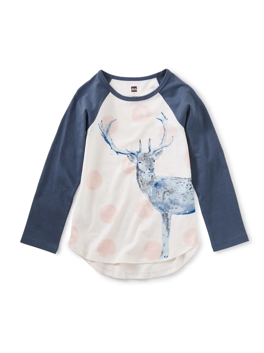 Oh Deer Raglan Graphic Tee