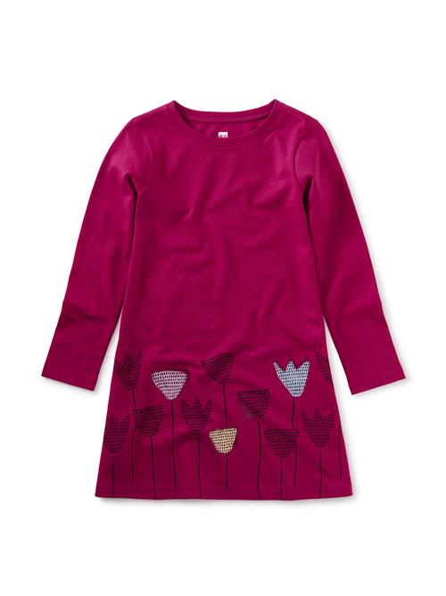 Tulip Border T-Shirt Dress
