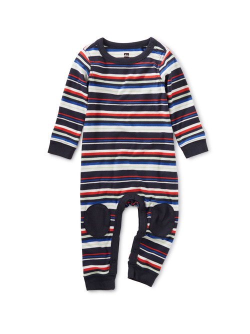 Knee Patch Baby Romper