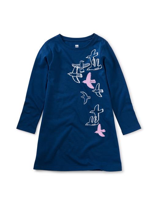 Flying Birds T-Shirt Dress