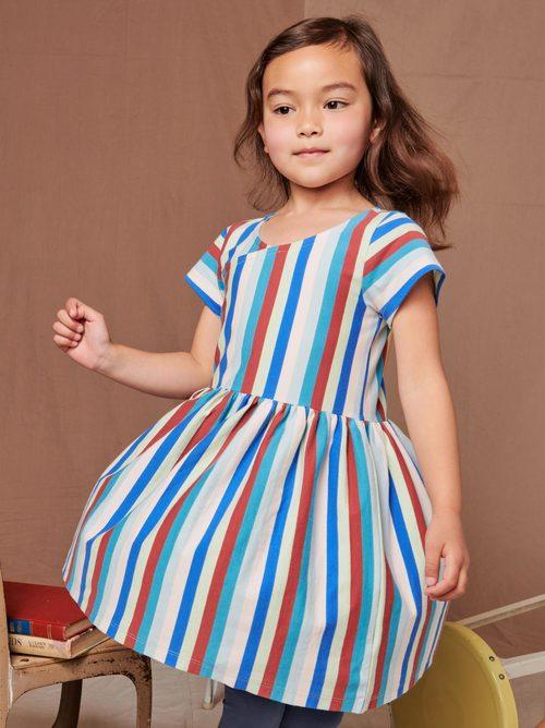 Short Sleeve Wrap Neck Dress