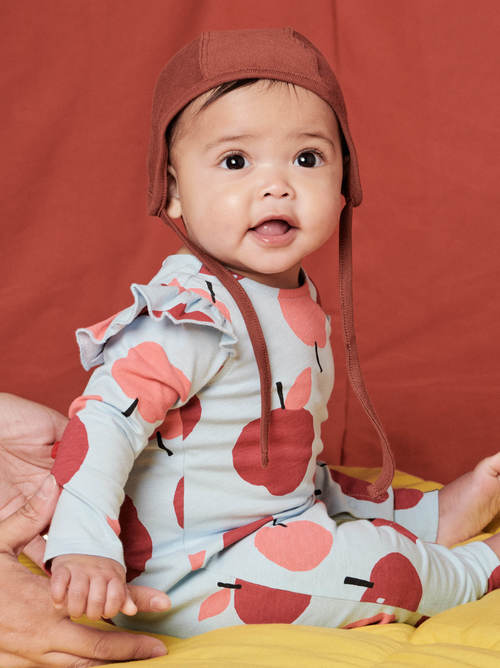 Ruffle Shoulder Baby Romper