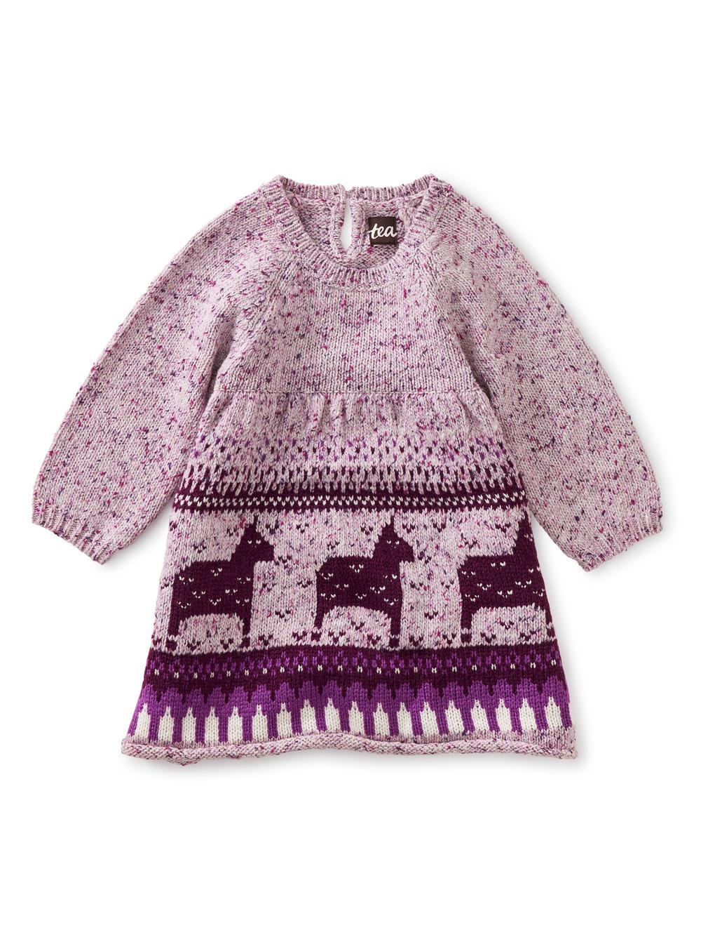 Dala Horse Baby Sweater Dress