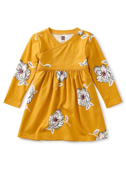 Baby Wrap Neck Dress