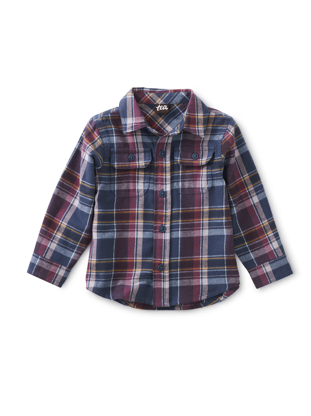 Flannel Button Up Baby Shirt