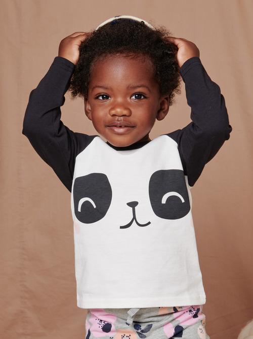 Panda Raglan Baby Tee