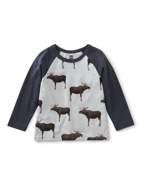 Moose Crossing Raglan Baby Tee