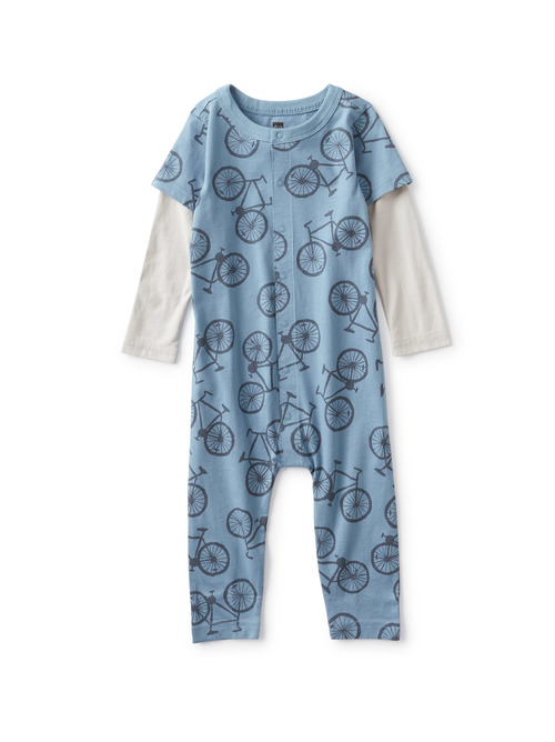 Layered Button-Up Baby Romper