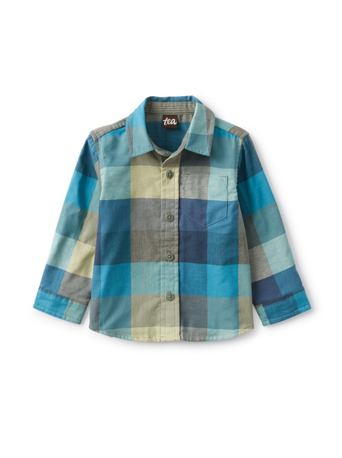 Plaid Button Up Baby Shirt
