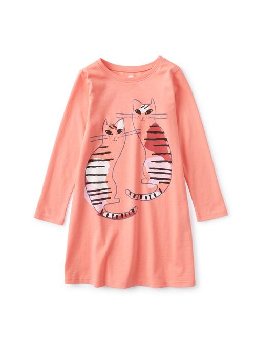 Fika Cats T-Shirt Dress