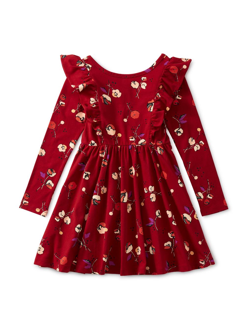 Ruffle Shoulder Ballet Dress