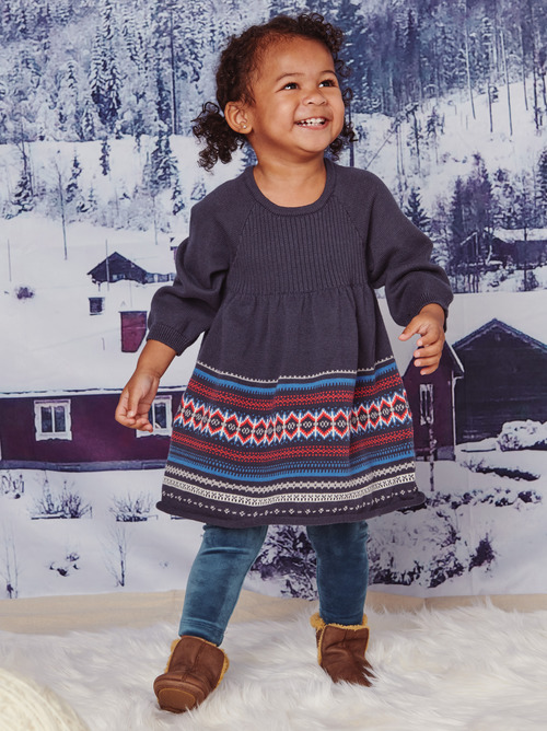 Baby Fair Isle Sweater Dress