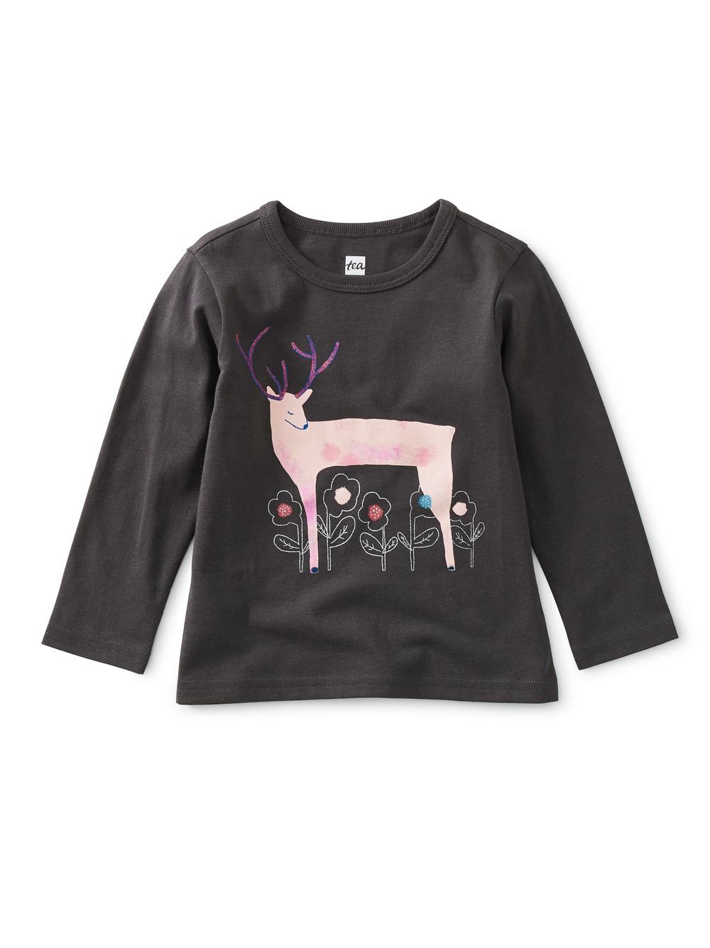Winter Deer Baby Graphic Tee