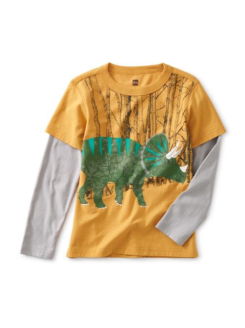 Triceratop Layered Graphic Tee