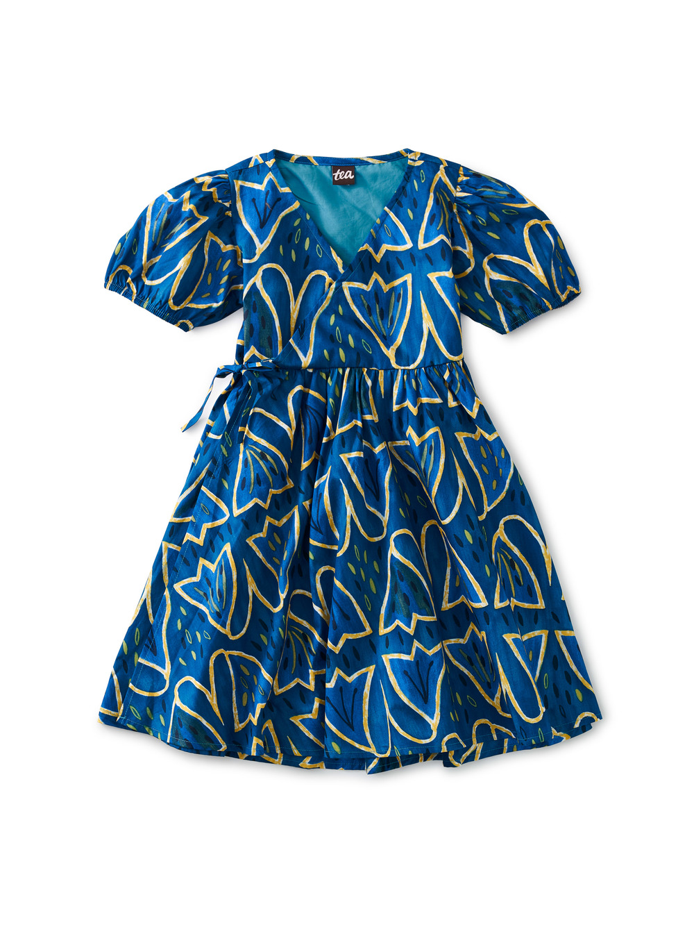 Tie Wrap Neck Dress