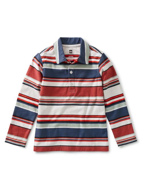 Striped Long Sleeve Polo