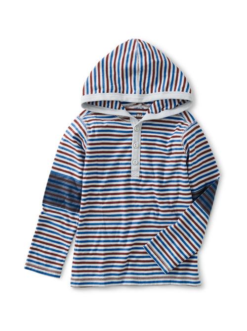 Striped Henley Hoodie