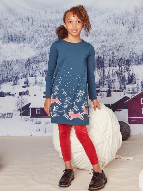 Reindeer Romp T-Shirt Dress