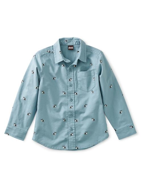 Regal Reindeer Button Up Shirt