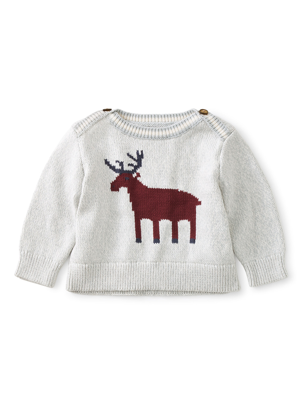 Moose Baby Sweater