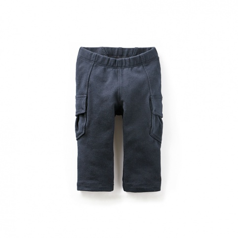 Skinny French Terry Baby Cargos   Tea Collection