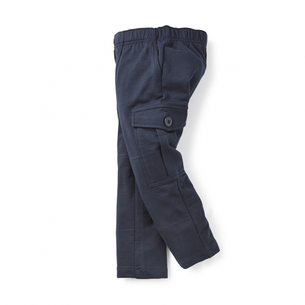 French Terry Cargo Pants For Little Boys | Tea Collection