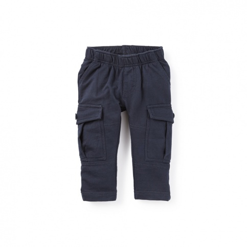 French Terry Baby Cargos   Tea Collection