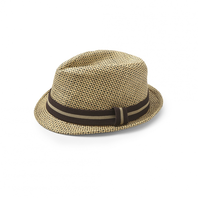 Liv and Lily Straw Fedora | Tea Collection