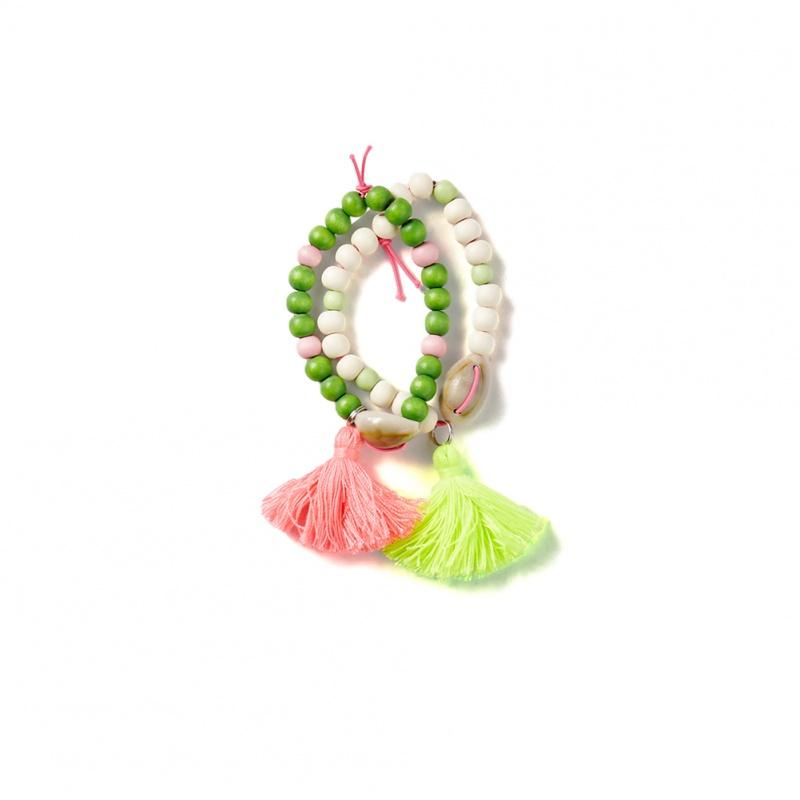 Everbloom Tassel Bead Bracelets | Tea Collection