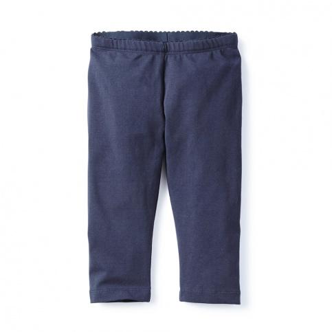Pink Solid Capri Leggings for Little Girls | Tea Collection