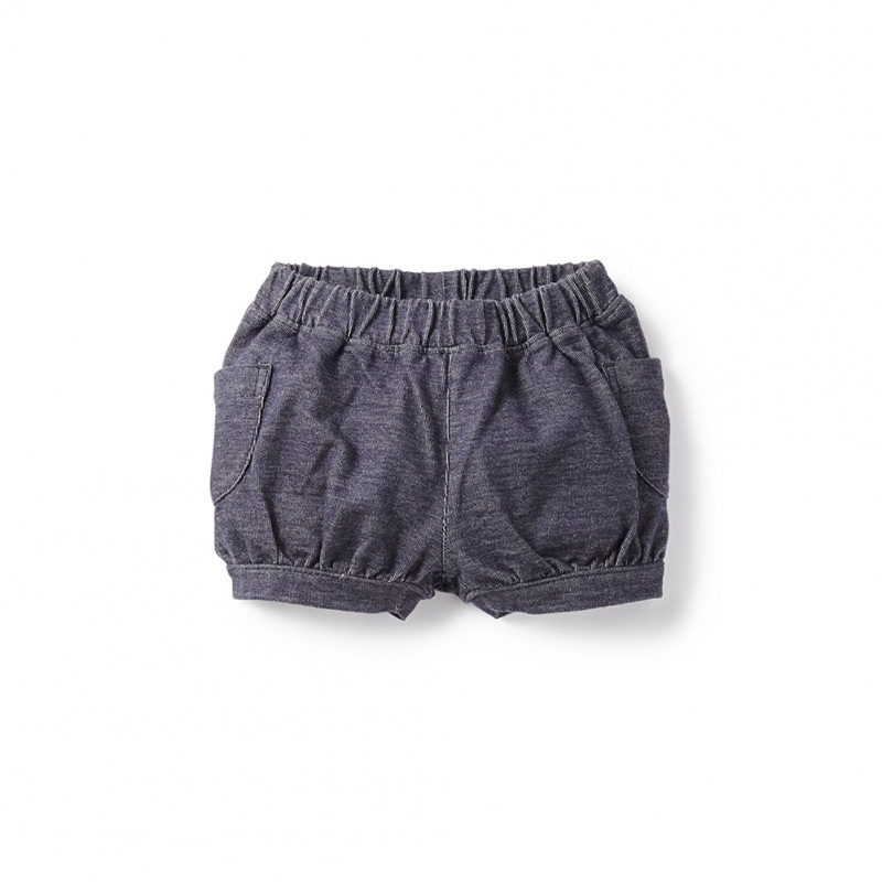 Denim Look Cargo Baby Shorts for Girls | Tea Collection