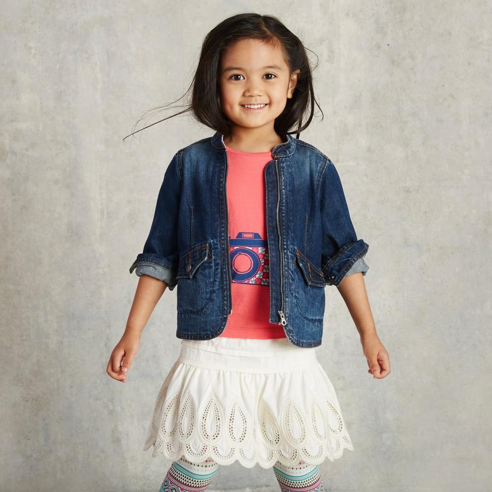 Adorable Denim Jacket for Little Girls | Tea Collection