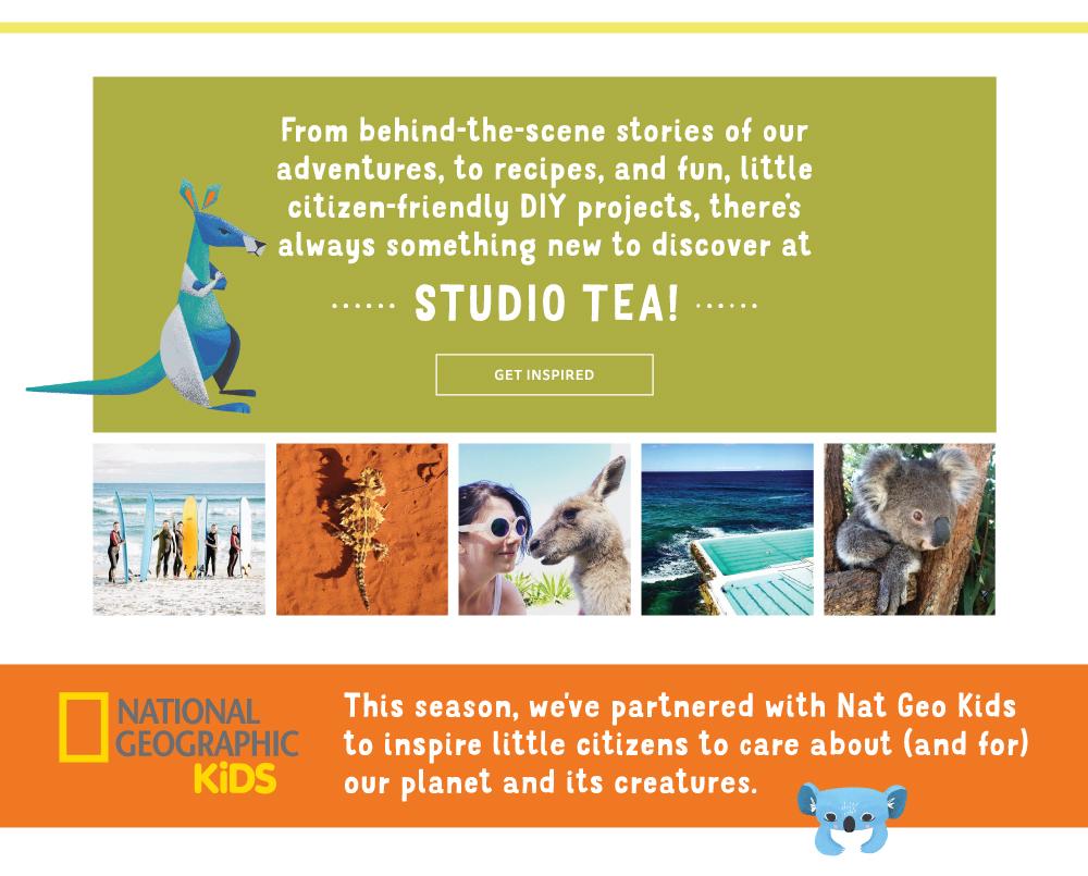 description to visit Tea's blog, Instagram, and partnered Nat Geo Kids activity page