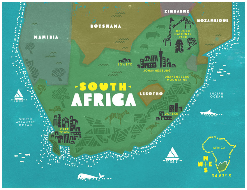 Maps Of Cape Town South Africa | Jackenjuul