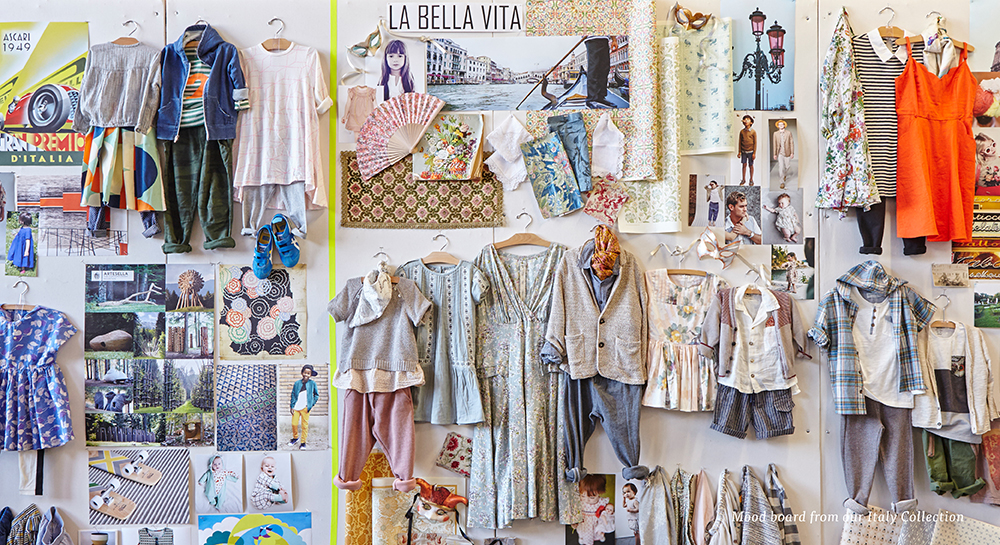 Mood board from our Italy Collection
