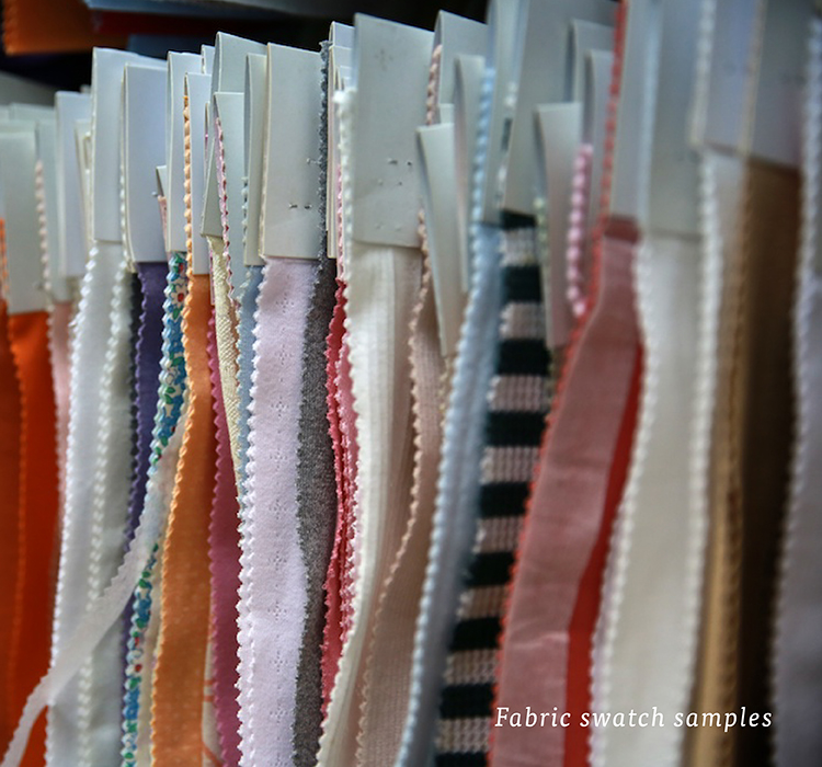 Fabric swatch samples