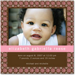 girl photo birth annoucement vibrant blooms