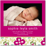 girl photo birth annoucement springtime love