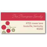 address labels gift tags leafy cheer