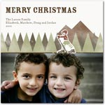 flat christmas photo cards mountain lodge