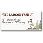address labels gift tags mountain lodge