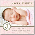 girl photo birth annoucement sweet little floral