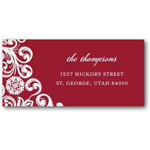 address labels gift tags fresh flurry