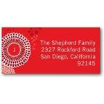 address labels gift tags dancing chrysanthemum