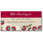 address labels gift tags vibrant flora