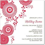 holiday party invitations brightly blooming