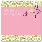 address labels gift tags sticker pink birds on a branch