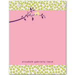 invitations blank cards thank you cards pink birds on a branch